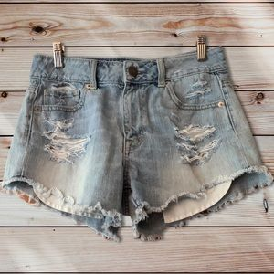 American Eagle Distressed Shorts-4